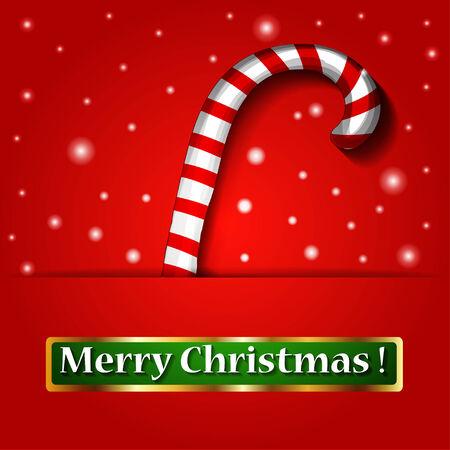 caramelos navidad: Feliz dulces de Navidad en un fondo. Ilustraci�n del vector.