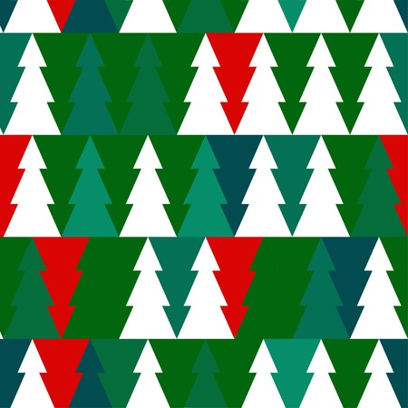 Vector Christmas seamless pattern with chrismas trees. EPS illustration. Vector