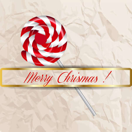 christmas candy: Merry Christmas candy on a background. Vector illustration. Illustration