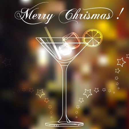 Merry christmas coctail on a background. Vector illustration. EPS 10 Vector