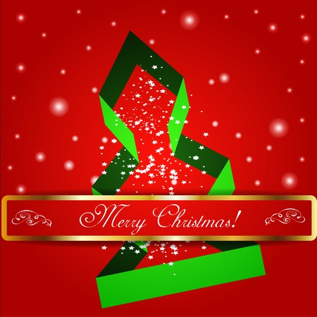Merry christmas tree background. Vector illustration. EPS 10 Vector