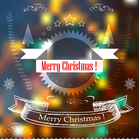Hand Drawn Christmas  Decoration Set Of decoration designs. Vector EPS Vector