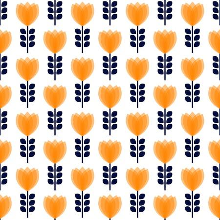 빈티지 추상 꽃 원활한 패턴입니다. 벡터 일러스트 레이 션. 일러스트