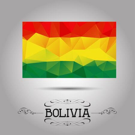 bandera de bolivia: Geom�trica del vector bandera poligonal Bolivia. Para su dise�o Vectores