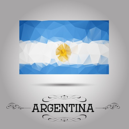 argentina flag: Vector geometric polygonal Argentina flag. For your design