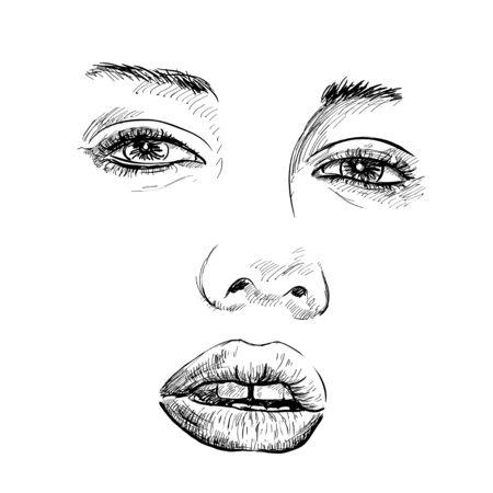 mannequin mode: mannequin portrait dessin� � la main. Vector illustration. EPS Illustration