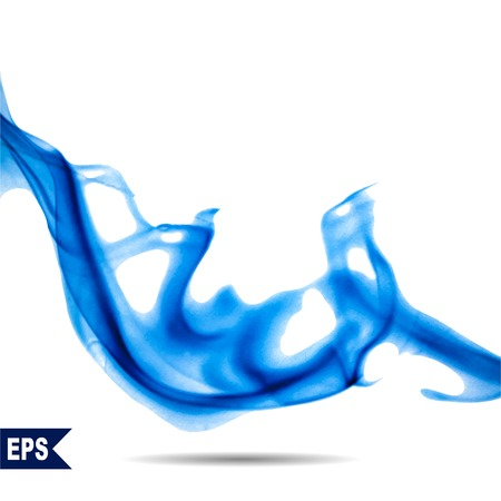 Vector abstract blue cloud. Ink swirling in water, clouds of ink isolated. Abstract banner paints. Holi. Vettoriali