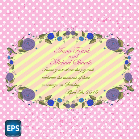 holidays for couples: Wedding invitation with flowers for your design.