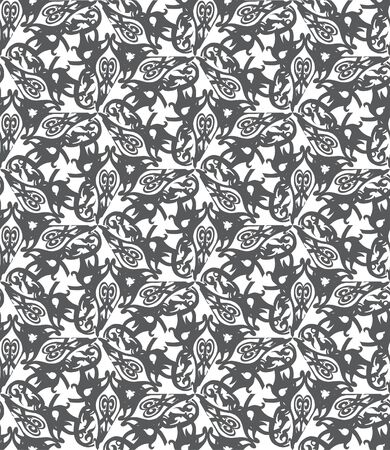 Retro decorative vector seamless pattern. Endless texture can be used for wallpaper Vector