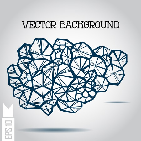 Abstract 3D geometric colorful shape on a background. Vector.  Vector