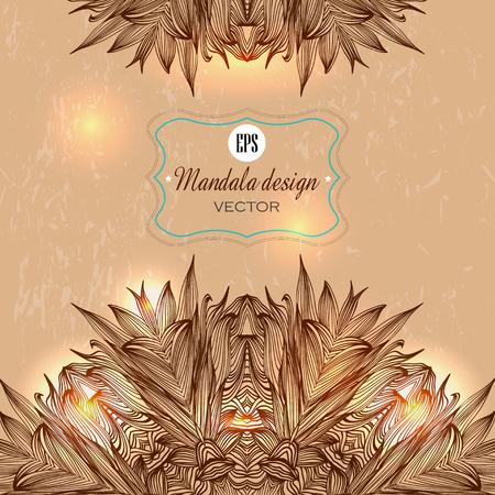 Ensemble de rondes mandalas Ornement. Élément de cercle géométrique faite dans le vecteur. Ensemble parfait pour tout autre type de conception, d'anniversaire et d'autres vacances, kaléidoscope, médaillon, le yoga, l'inde, arabic. Banque d'images - 40861747