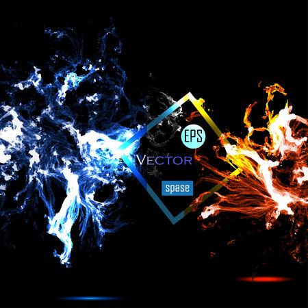 Vector Universe background for presentation design. EPS 10 illustration.