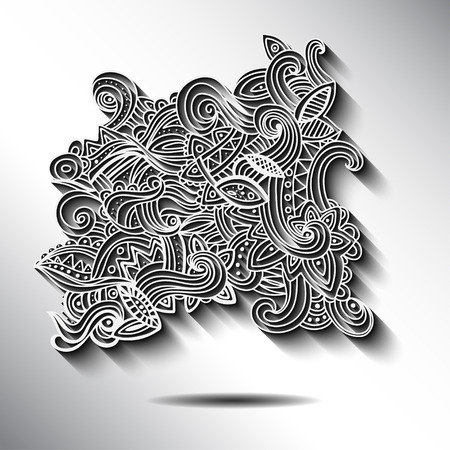 Multicolor Pattern Doodles- Decorative Sketchy Notebook Design- Hand-Drawn Vector Illustration Background. EPS