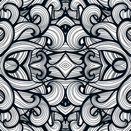 curl: Curl abstract patternwith multicolored waves. Vector illustration. EPS