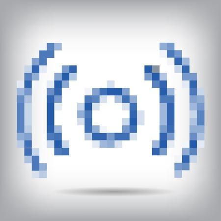 remote access: Blue wireless and wifi icon for remote access.