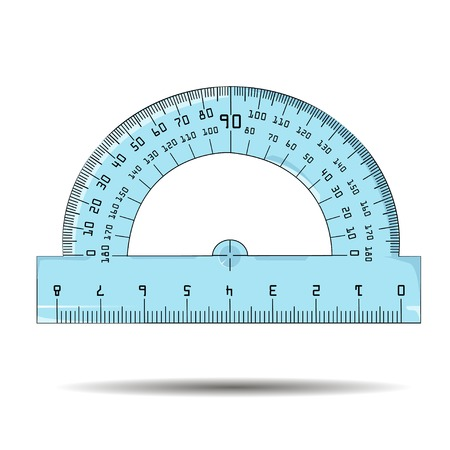 architectural studies: illustration of protractor Stock Photo