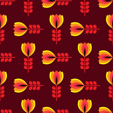 petal: floral pattern with petal on a brown background. Stock Photo