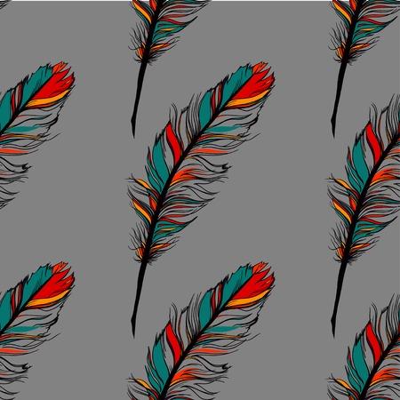 pluma: Pluma del pavo real patr�n sin fisuras en el fondo.
