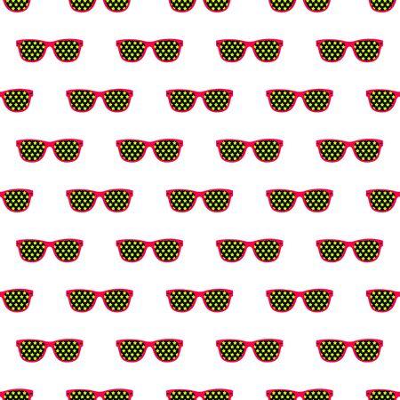 illustation: seamless pattern from glasses in vintage style.  illustation.