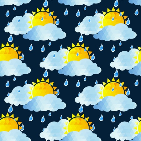 underlying: Clouds seamless pattern on a background. illustration.