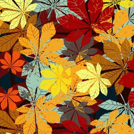 잎 밤나무 패턴 - 실루엣