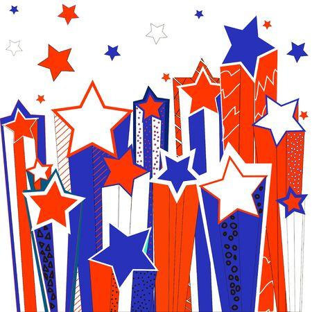 shooting stars: Shooting stars. illustration. Stock Photo