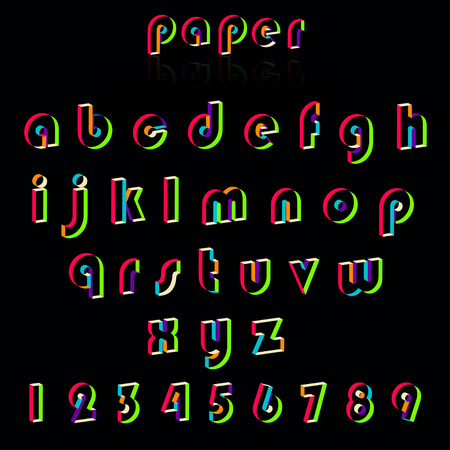 crafting: Illustration of paper crafting alphabets. Stock Photo