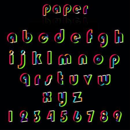 crafting: Illustration of paper crafting alphabets. Foto de archivo