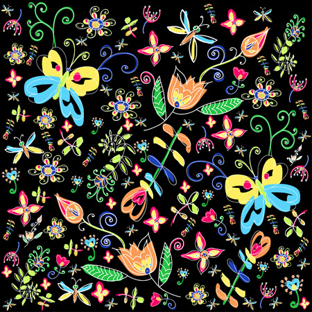 multicolored background: Flower decorative multicolored background. illustration.