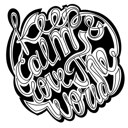 white letters: Vector lettering. White letters written with a brush on a white background. EPS