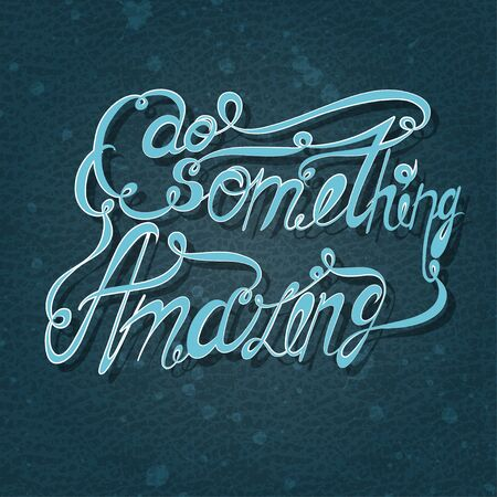 bluish: Vector lettering. Bluish letters written with  brush on a blue background. EPS illustration Illustration