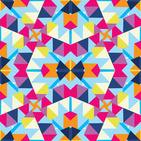 Abstract multicolored decorative geometric kaleidoscope background.
