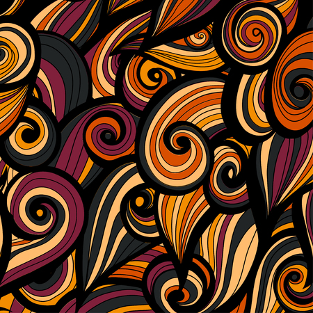 Curl abstract pattern with multicolored waves. Vector illustration.
