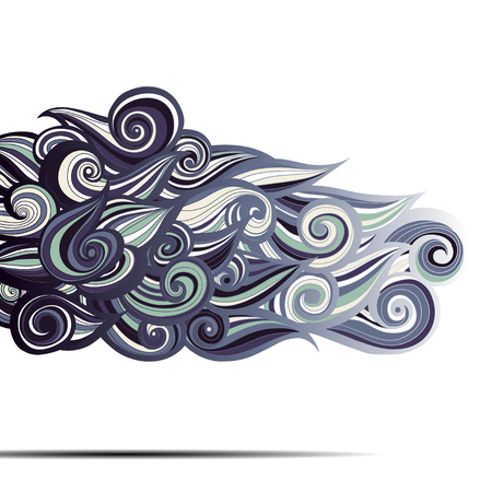 abstract waves: Curl abstract pattern with multicolored waves. Vector illustration.