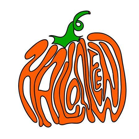 calabazas de halloween: Letras de calabaza para Halloween en un fondo. Vector. EPS