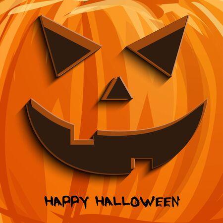 smilling: Vector pumpkin portrait  for Halloween on background. Stock Photo