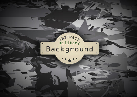 camo: Camouflage military monochrome pattern  background. Vector illustration  Illustration