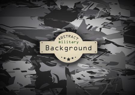 Camouflage military monochrome pattern  background. Vector illustration  Illustration