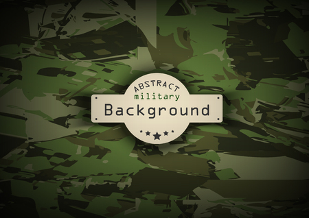 Camouflage military pattern  background. Vector illustration