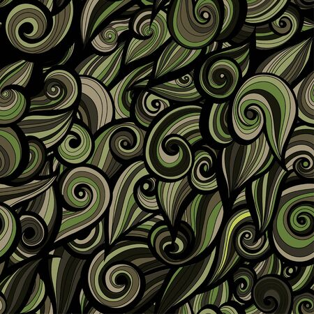 uniform curls: Camouflage military curly pattern  background. Vector illustration, EPS Illustration