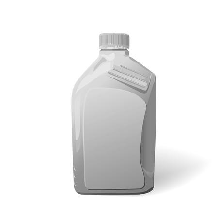 motor oil: Blank white plastic canister for motor oil,Vector eps Illustration