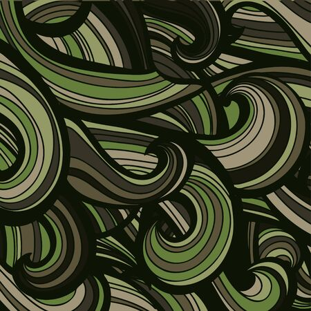uniform curls: Camouflage military curly pattern background. Vector illustration, Illustration