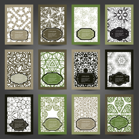 creation of sites: Set retro business card. Vector background. Card or invitation. Vintage decorative elements. Hand drawn background. Islam, Arabic, Indian, ottoman motifs. EPS