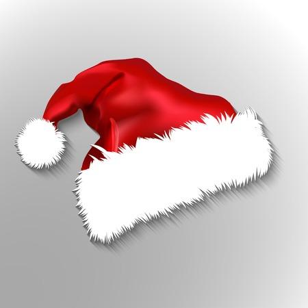 santa hat: Vector of red Santa Claus hat illustration Illustration