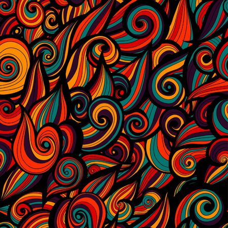 Curly abstract pattern with multicolored waves. illustration. Stock Photo
