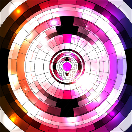 party night: Abstract geometric disco glowing of a background