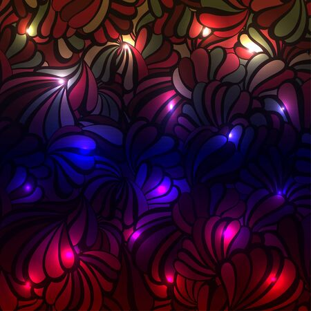 colorful: Glowing sea shell multicolored pattern on a background. illustration.