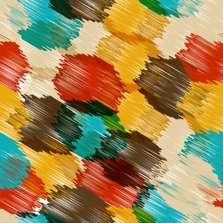 Vector seamless background pattern, with circles, strokes and splashes. EPS 10