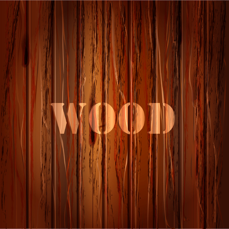 brown wood: Brown wood texture. vector background with text illustration Illustration