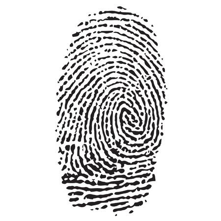 fingermark: black isolated fingerprint on a white background.